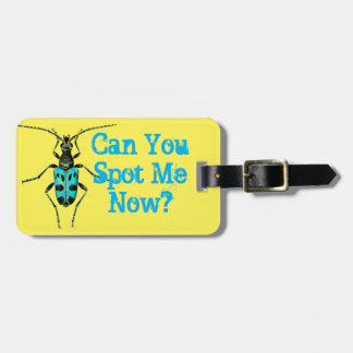 """""""Can you Spot me Now"""" Blue Spotted Beetle Bug Luggage Tag"""