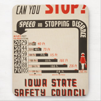 Can You Stop? Road Safety Poster Mouse Pad