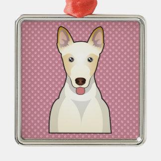 Canaan Dog Cartoon Metal Ornament