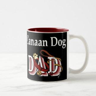 Canaan Dog DAD Gifts Two-Tone Coffee Mug