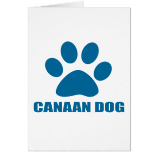 CANAAN DOG DESIGNS CARD