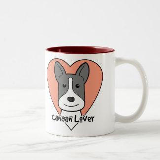 Canaan Dog Lover Two-Tone Coffee Mug