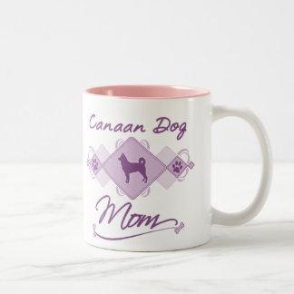 Canaan Dog Mom Two-Tone Coffee Mug