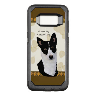 Canaan Dog on Tan Leaves OtterBox Commuter Samsung Galaxy S8 Case