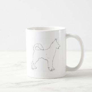 Canaan Dog silhouette Coffee Mug