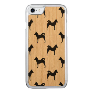 Canaan Dog Silhouettes Pattern Carved iPhone 7 Case
