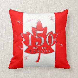 Canada 150 Birthday Celebration Maple Leaf Throw Pillow