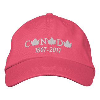 Canada 150 Embroidered Pink Baseball Cap for Her