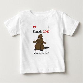 Canada 150 in 2017 Beaver 3 Cheers Baby T-Shirt
