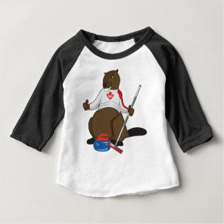 Canada 150 in 2017 Beaver Curling Main Baby T-Shirt