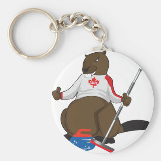 Canada 150 in 2017 Beaver Curling Main Basic Round Button Key Ring