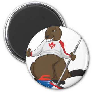 Canada 150 in 2017 Beaver Curling Main Magnet