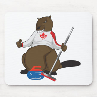 Canada 150 in 2017 Beaver Curling Main Mouse Pad