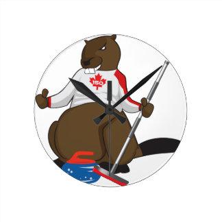 Canada 150 in 2017 Beaver Curling Main Round Clock