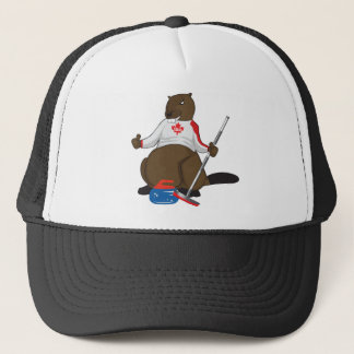 Canada 150 in 2017 Beaver Curling Main Trucker Hat