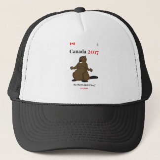 Canada 150 in 2017 Beaver Here First Trucker Hat