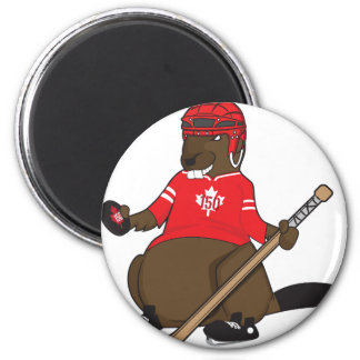 Canada 150 in 2017 Beaver Hockey 6 Cm Round Magnet