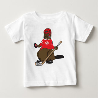 Canada 150 in 2017 Beaver Hockey Baby T-Shirt