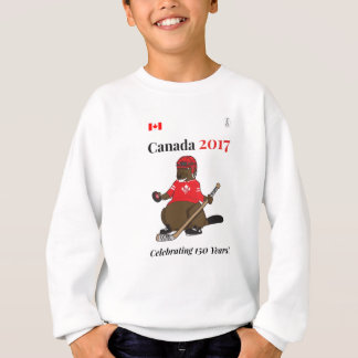 Canada 150 in 2017 Beaver Hockey Celebrating Sweatshirt