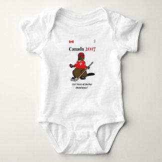 Canada 150 in 2017 Beaver Hockey Dominance Baby Bodysuit