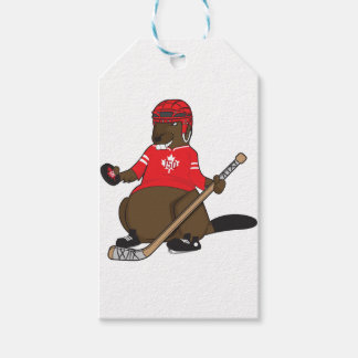 Canada 150 in 2017 Beaver Hockey Gift Tags