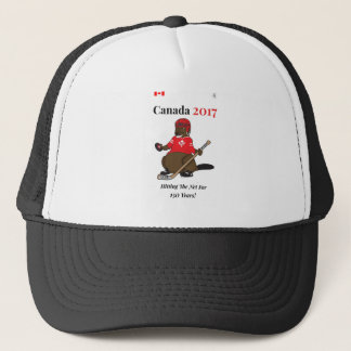 Canada 150 in 2017 Beaver Hockey Hitting Net Trucker Hat