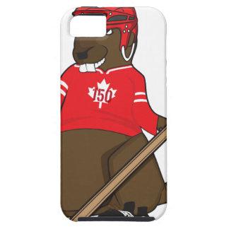 Canada 150 in 2017 Beaver Hockey iPhone 5 Case