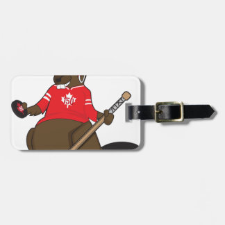 Canada 150 in 2017 Beaver Hockey Luggage Tag