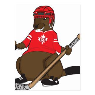 Canada 150 in 2017 Beaver Hockey Postcard