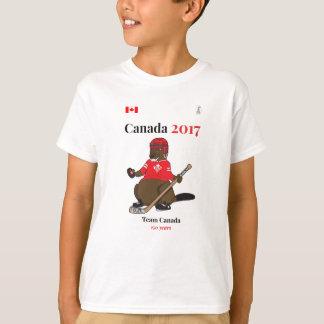 Canada 150 in 2017 Beaver Hockey Team Canada T-Shirt