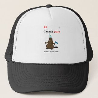 Canada 150 in 2017 Beaver Party 3 Cheers Trucker Hat