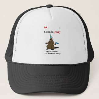 Canada 150 in 2017 Beaver Party Bad Trucker Hat