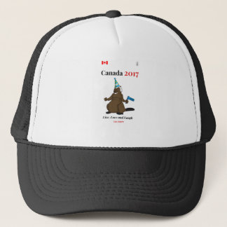 Canada 150 in 2017 Beaver Party Live Trucker Hat