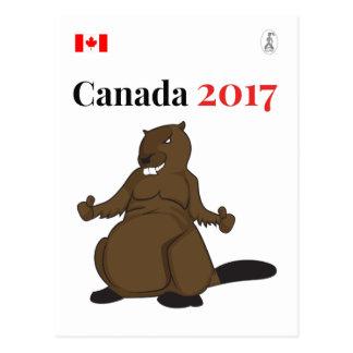 Canada 150 in 2017 Beaver Postcard