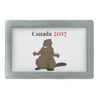 Canada 150 in 2017 Beaver Rectangular Belt Buckle