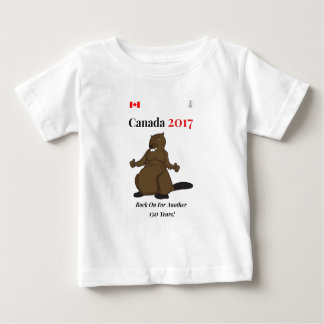 Canada 150 in 2017 Beaver Rock On Baby T-Shirt