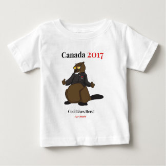Canada 150 in 2017 Cool Lives Here Baby T-Shirt