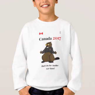 Canada 150 in 2017 Cool Rock On Sweatshirt