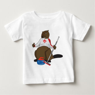 Canada 150 in 2017 Curling Beaver Merchandise Baby T-Shirt