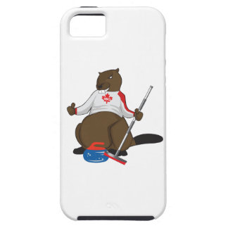 Canada 150 in 2017 Curling Beaver Merchandise iPhone 5 Cases