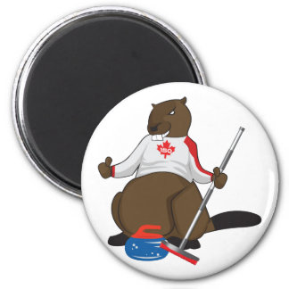 Canada 150 in 2017 Curling Beaver Merchandise Magnet
