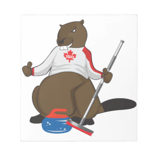 Canada 150 in 2017 Curling Beaver Merchandise Notepad