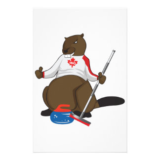 Canada 150 in 2017 Curling Beaver Merchandise Stationery