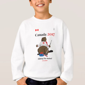 Canada 150 in 2017 Curling Button Sweatshirt