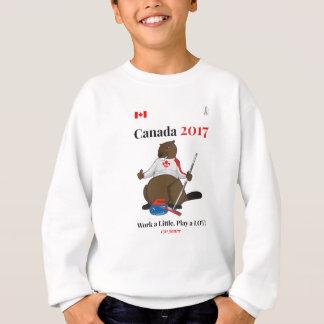Canada 150 in 2017 Curling Work Sweatshirt