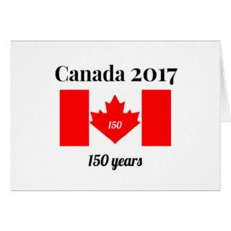 Canada 150 in 2017 Heart Flag Card