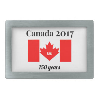 Canada 150 in 2017 Heart Flag Rectangular Belt Buckles