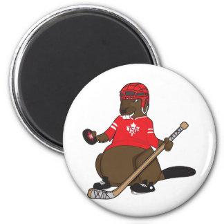Canada 150 in 2017 Hockey Beaver 6 Cm Round Magnet