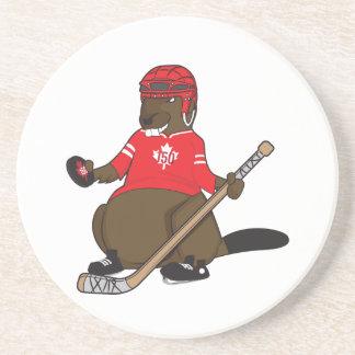 Canada 150 in 2017 Hockey Beaver Coaster