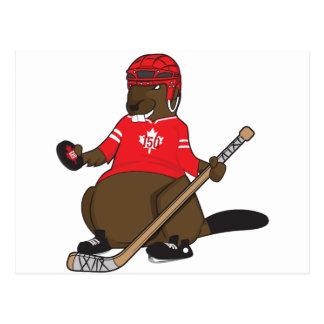 Canada 150 in 2017 Hockey Beaver Postcard